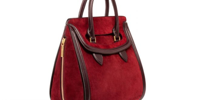 1ec680fa48c Alexander McQueen Oxblood Suede Heroine Bag
